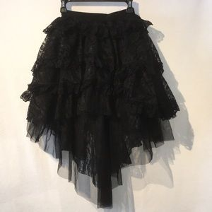 Other - Beautiful asymmetrical black ballet lace tutu